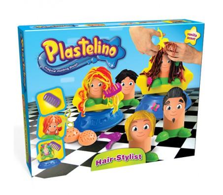 Игровой набор Парикмахерская ПластелиноНаборы для лепки из пластилина