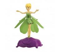 Фея, парящая в воздухе, в зеленом платье