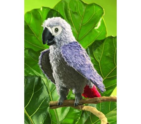 Африканский попугай серый, Folkmanis 28 смЖивотные