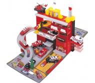Автотрек  Пожарная станция , 4 машинки, вертолет