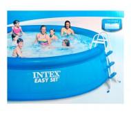 Easy Set, бассейн надувной 457х107 см (лестница, тент, подстилка, насос с фильтром 220V)