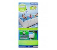 Каркасный бассейн прямоугольный 549х274х132 см (насос с фильтром, 220V, лестница, подстилка, тент)