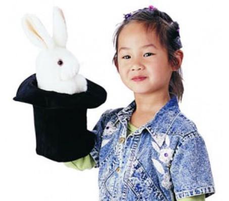 Большой заяц в шляпе, 36 смМарионетки (перчаточные куклы)