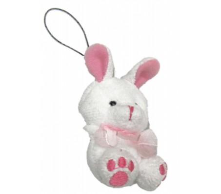 Брелок зайчик с розовыми ушкамиКролики, зайчики, котики (брелки, копилки, магниты)