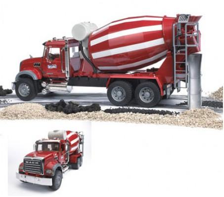 BRUDER Бетономешалка N MACK Granit TruckМашины спецтехники
