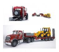 BRUDER Тягач N MACK Granit Truck с экскаватором