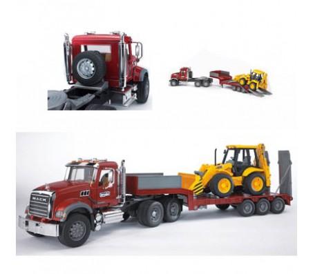 BRUDER Тягач N MACK Granit Truck с экскаваторомМашины спецтехники