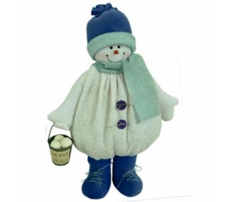 Снеговик с ведеркомШары, гирлянды, дождик