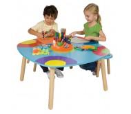 Стол для творчества и 2 банкетки, без наполнения