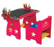 Стол-парта для творчества со стулом.