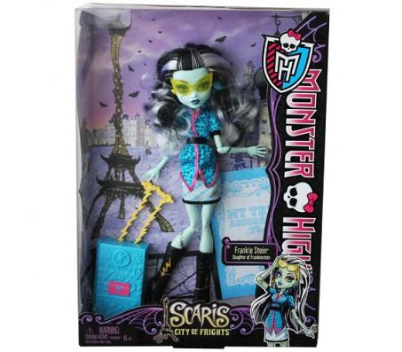 Frankie Stein с чемоданом Scaris City of FrightКуклы Школа монстров (Monster high)