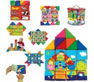 Играй учись мягкие кубики