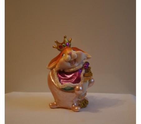 Копилка зайчик на троне 12,8смКролики, зайчики, котики (брелки, копилки, магниты)