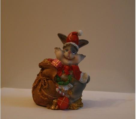 Копилка зайчик новогоднийКролики, зайчики, котики (брелки, копилки, магниты)