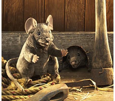 Коричневая мышь, 20 см FolkmanisМарионетки (перчаточные куклы)
