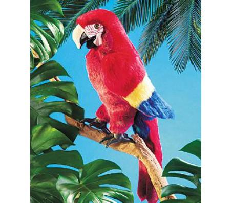 Красный попугай, FolkmanisМарионетки (перчаточные куклы)