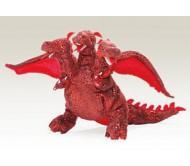 Красный трехголовый дракон, 25 см