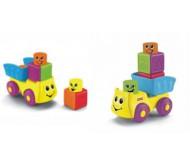 Кубики грузовичок и гусеница