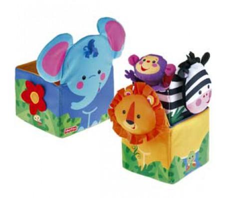 Кубики тропический лес животныеКубики для малышей
