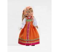 Кукла Катя в оранжевом сарафане 32 см