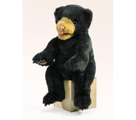 Медведь черный игрушка мягкая FolkmanisЖивотные