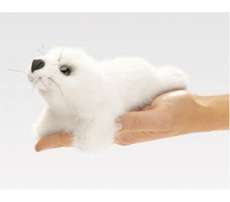 Мини белый тюлень игрушка мягкаяМарионетки (перчаточные куклы)