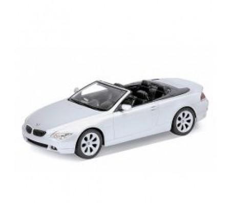 Моделька BMW 654CI  белого цвета 1:18Модели машин