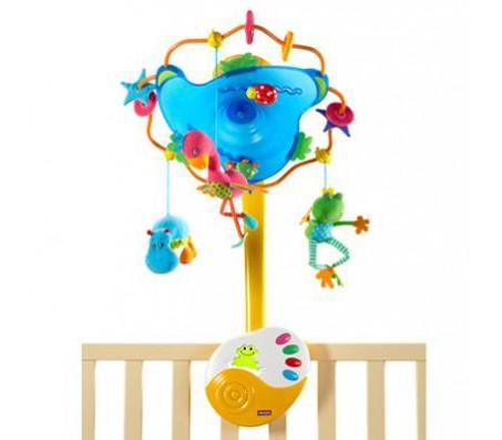 Музыкальный мобиль:  Нотки леса с ночником!Развивающие игрушки для малышей