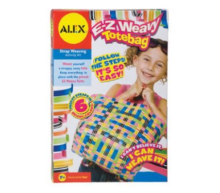 Набор для плетения сумки из разноцветных ремешковДетское рукоделие