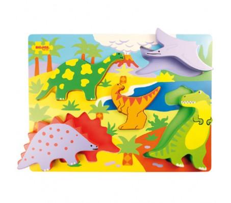 Пазл-вкладыш ДинозаврыПазлы и вкладыши