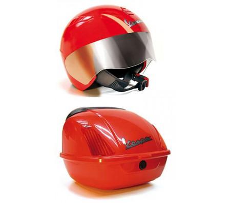 Peg-Perego (аксессуары) Шлем и багажник VespaДетские электромобили