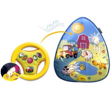 Подвеска с автомобильным рулем и животными!Развивающие игрушки для малышей