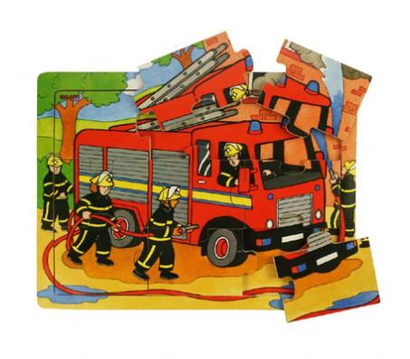 Пожарная машина 9 элементовПазлы и вкладыши