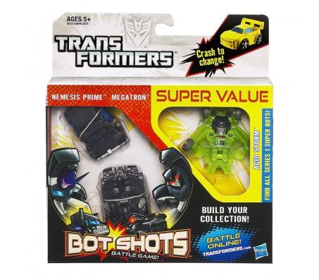 Трансформеры Bot Shots Battle Game Figure - 3 PackИгрушки Трансформеры (Transformers)